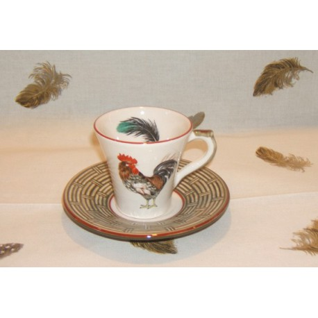 Cup & Saucer Coffee Bronze Court Normande