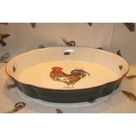 Plat à gratin ovale Cour Normande bronze