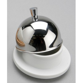 Beurrier rond inox / porcelaine + tartineur
