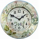 Wall Clock 34.5Cm Metal Herbs De Provence