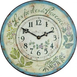 Wall Clock 36Cm Provences Herbs