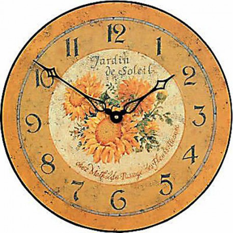 Wall Clock 36Cm Garden Of The Sun