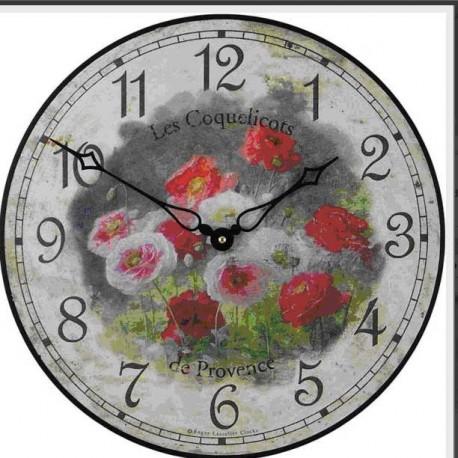 Wall Clock 36Cm Poppies