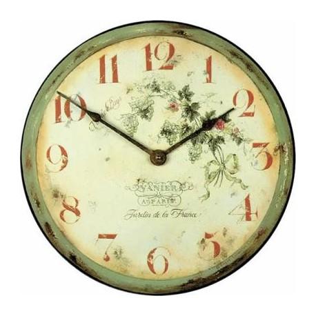 Wall Clock 36Cm Garden France