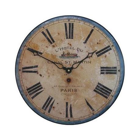 Wall Clock 36Cm Canal Saint Martin
