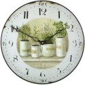 Wall Clock 36Cm Pots And Herbs