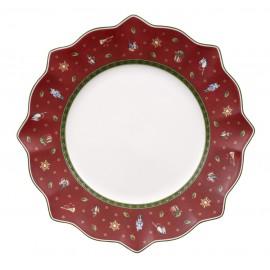 Assiette plate coloris rouge Toy's delight