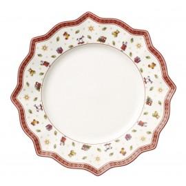 Assiette plate coloris blanc Toy's delight
