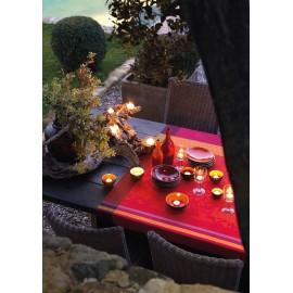 Nappe provence gariguette enduite 150x150cm jacquard français