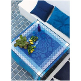 Azulegos col. bleu 120x120 jacquard français