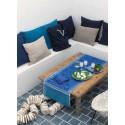 Azulegos Collar. French Blue 50X150 Jacquard