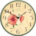 Wall Clock 36Cm Poppies Poppy