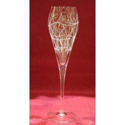 6 flûtes à champagne Super gravure raisin