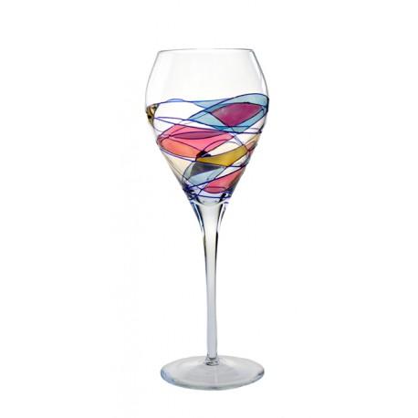 6 Verres A Vin Milano Couleur