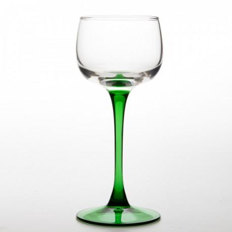 6 verres à vin d'Alsace, vin du Rhin