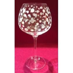 6 verres à vin super 60cl taille abstrait