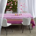 Tablecloth Garden Paradise Neck Coating. Glycine 175X175 Cm French Jacquard