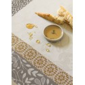 Tablecloth 175X175Cm French Provence Marzipan Coated Jacquard