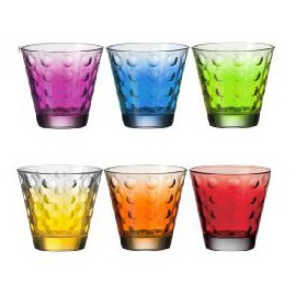 6 Cups Assorted Colors Optic