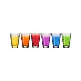 6 Mugs Optic Assorted Colors