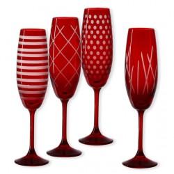 4 flutes Quorus rouge