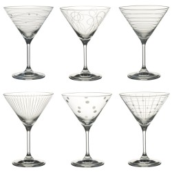 6 Verres à cocktail Graphik 35cl