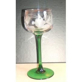 6 verres à vin d'Alsace vin du Rhin taillés raisins
