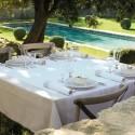 French Tablecloth 175X175Cm Venezia Ivory Jacquard