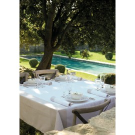 French Tablecloth 175X380Cm Venezia Ivory Jacquard