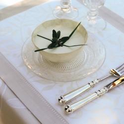 set de table Venezia ivoire 54x38cm Le jacquard français