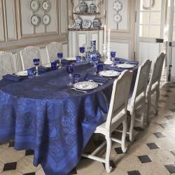 Nappe Porcelaine col. Bleu de Chine 175x250cm