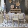 Nappe Mosaique col. argile 175x175cm