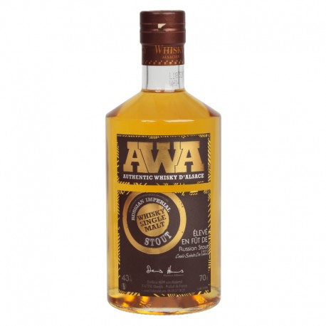 Whisky d'alsace AWA Russian Stout 70cl.