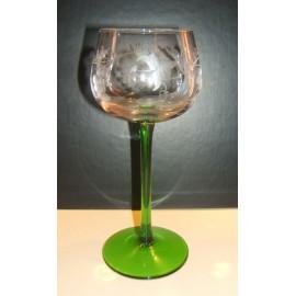 6 verres Alsace suzel 15cl taillés