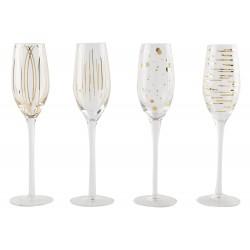 Lot de 4 flûtes à champagne cheers or Mikasa