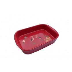 Plat à four cigogne rouge 4 tailles disponibles
