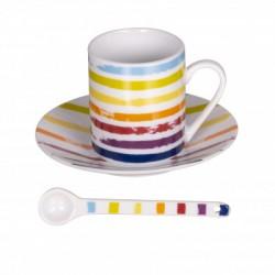 coffret 6 tasses café avec soucoupes et cuillères Little Marcel