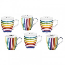 coffret 6 tasses café 20cl Little Marcel