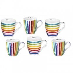 coffret 6 tasses café 20cl Little Marcel