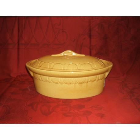 Terrine ovale 23 cm. / Poterie d'Alsace /  uni
