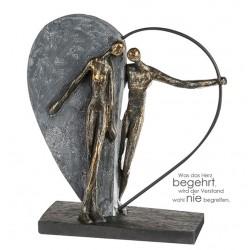 """Sculpture coeur à l'unisson """"Casablanca"""""""