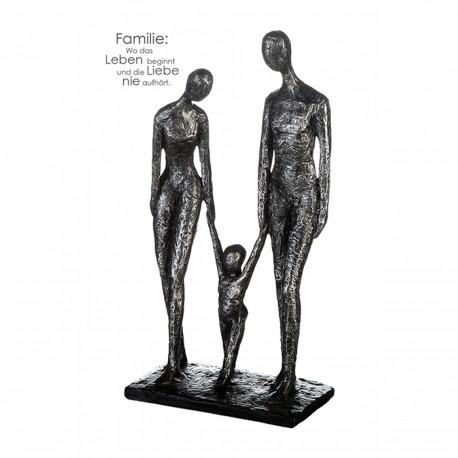 "Sculpture family 3 personnes ""Casablanca"""
