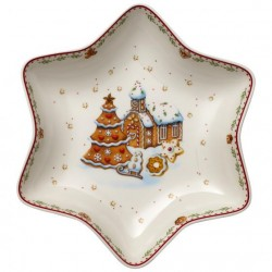 Winter Bakery Delight coupe en forme d'étoile motif maison en pain d'épices