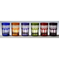 6 Glasses Colored Tea Cut Mireille
