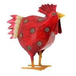 metal red rooster medium
