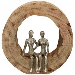 "Sculpture couple, Aluminum / Mango ""Casablanca"""