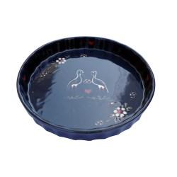Moule à tarte bleu cigogne - 2 tailles disponibles