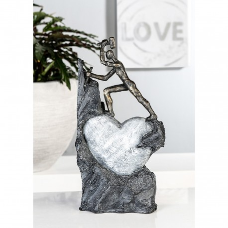 "Sculpture coeur tailleur de pierre ""Casablanca"""