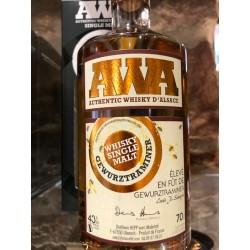 Whisky d'alsace AWA fût de gewurztraminer 70 cl.