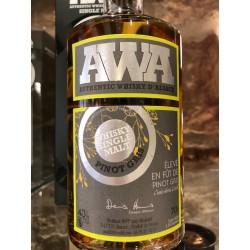 Whiskey alsace AWA fût de pinot gris 70 cl.